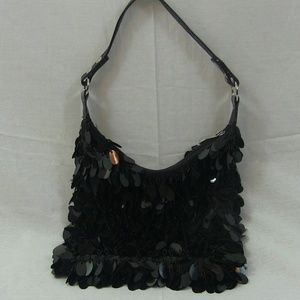 Black Sequence & Beaded Purse